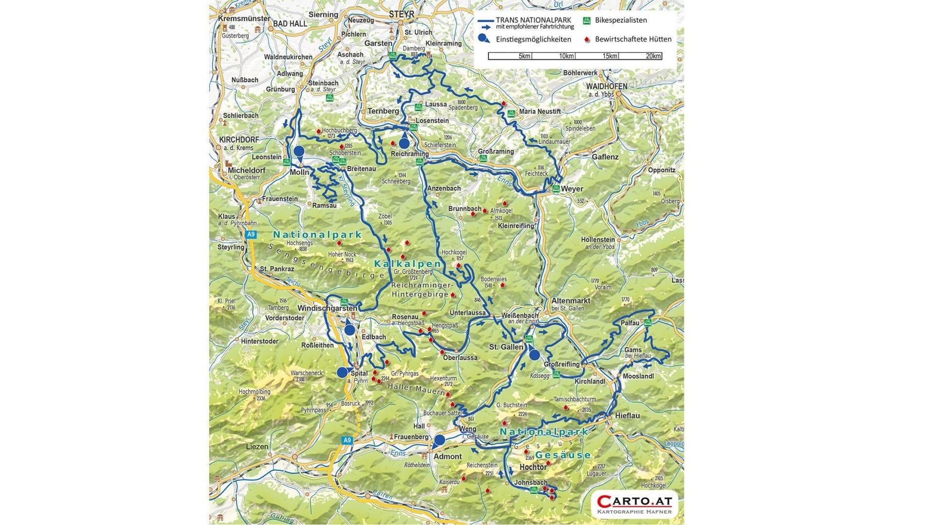 Trans Nationalpark - 13.300 Höhenmeter - 470 Kilometer